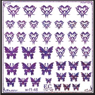 водные наклейки на ногти бабочки